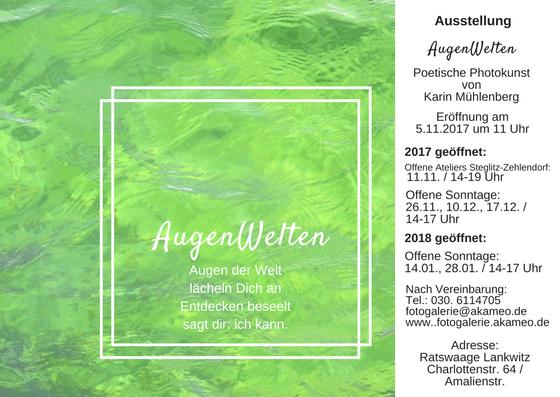 Ausstellung Augenwelten in Berlin, Ratswaage Lankwitz, @ Karin Mühlenberg